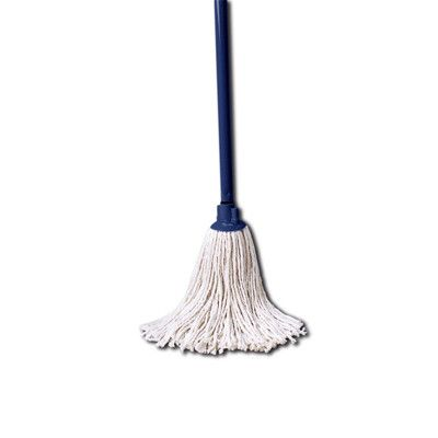 "Cotton Mop with 46"" Handle Combination Mop Head in White"