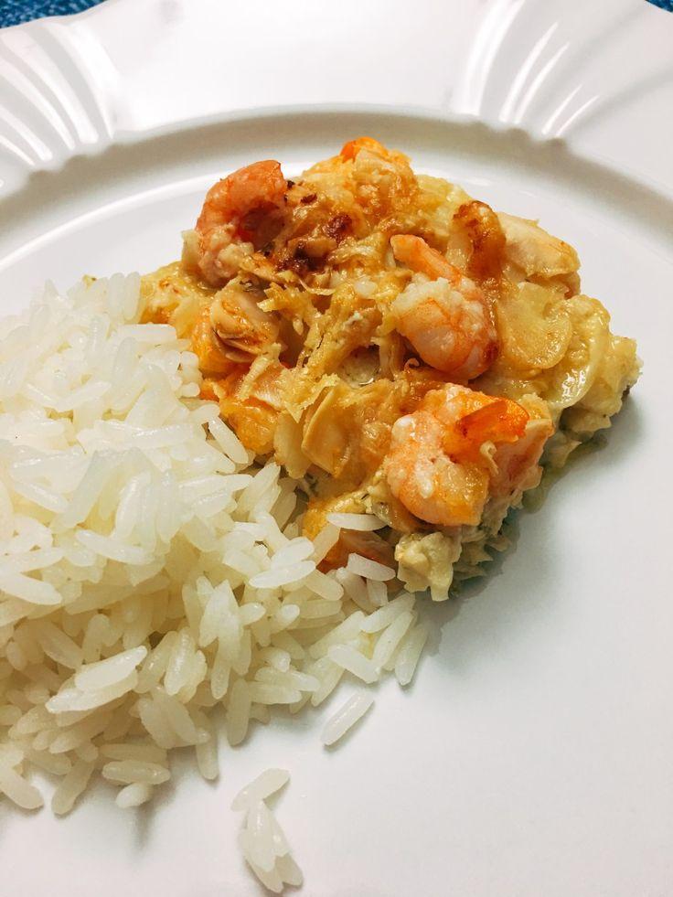 Peixe com Crosta de Parmesão e Camarão