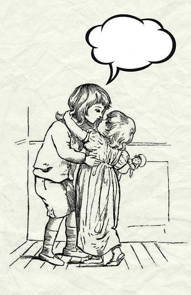 kissing children