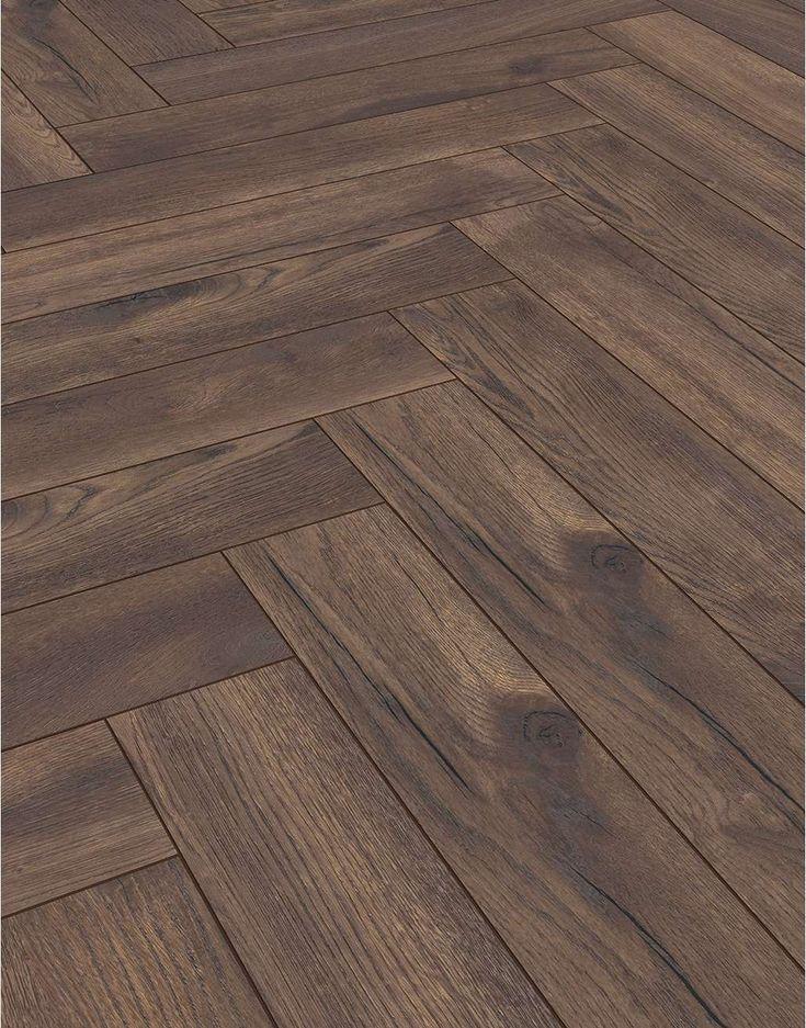 Herringbone Espresso Oak Laminate Flooring Oak