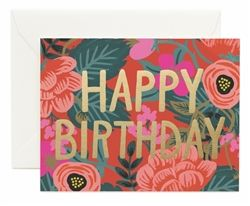 Rifle Paper Co. Poppy Birthday cards designed by Anna Bond.  Available now at Northlight