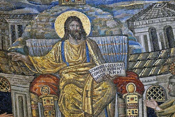 Detail of apse mosaic, Santa Pudenziana