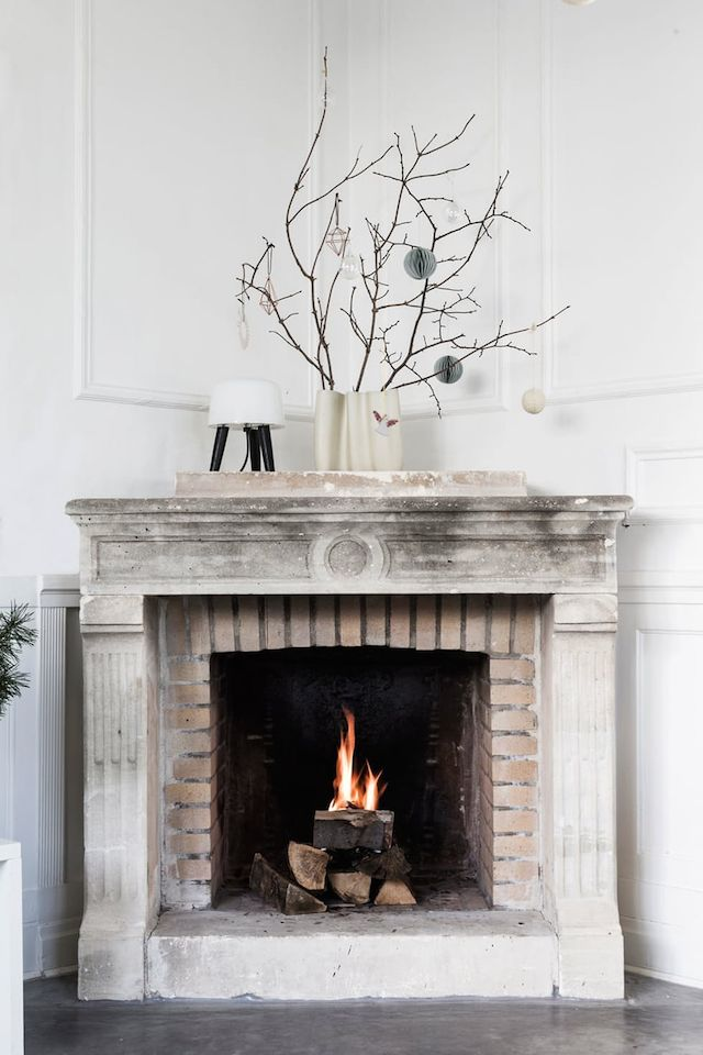 Perfect fireplace.