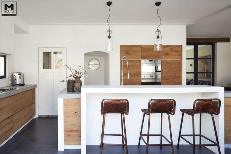 25 beste idee n over kookeiland bar op pinterest keuken bars keukeneiland en kleine keuken - Keukenmeubelen rustiek ...