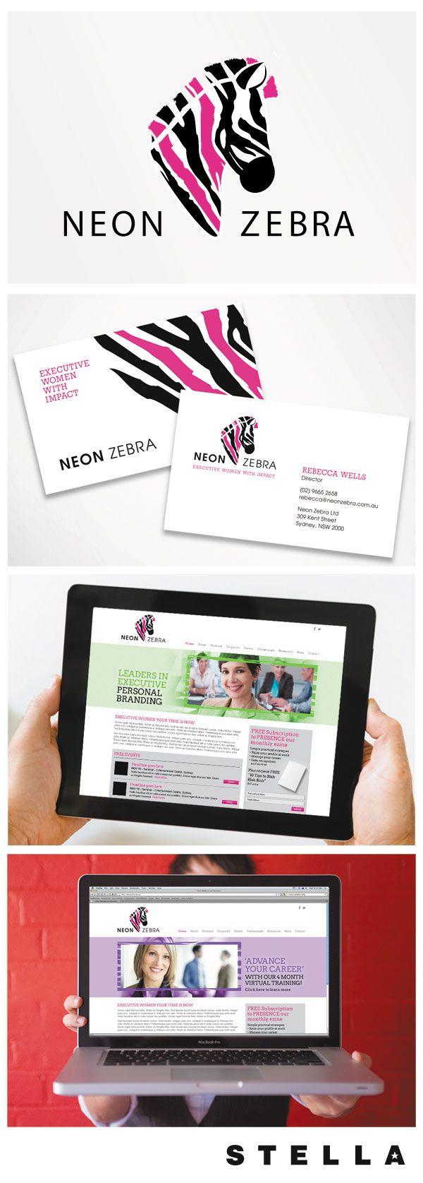 Some recent #LogoDesign  #WebDesign from Stella Design for Neon Zebra, an Executive Coach for Women