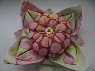 Knotted Cotton: How to make a Fabric Origami Lotus Flower Pincushion
