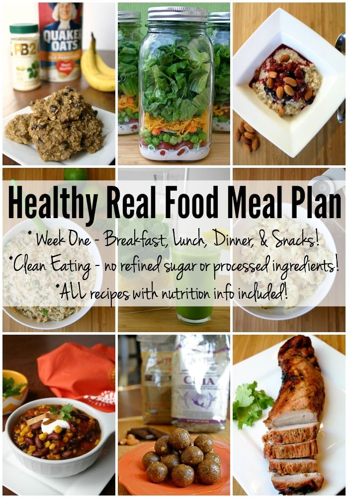 Healthy Real Food Meal Plan Week 1 Health Recipes And