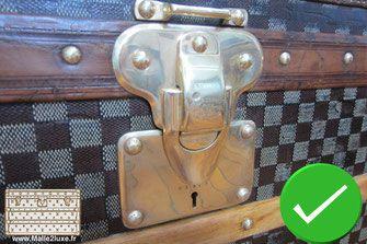Guide d'achat malle de luxe - restauration trunk laiton polissage louis vuitton  damier ancienne malle2Luxe