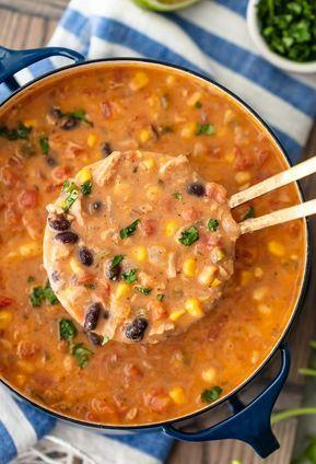 sopa de creme de frango e tortilla   – F O O D