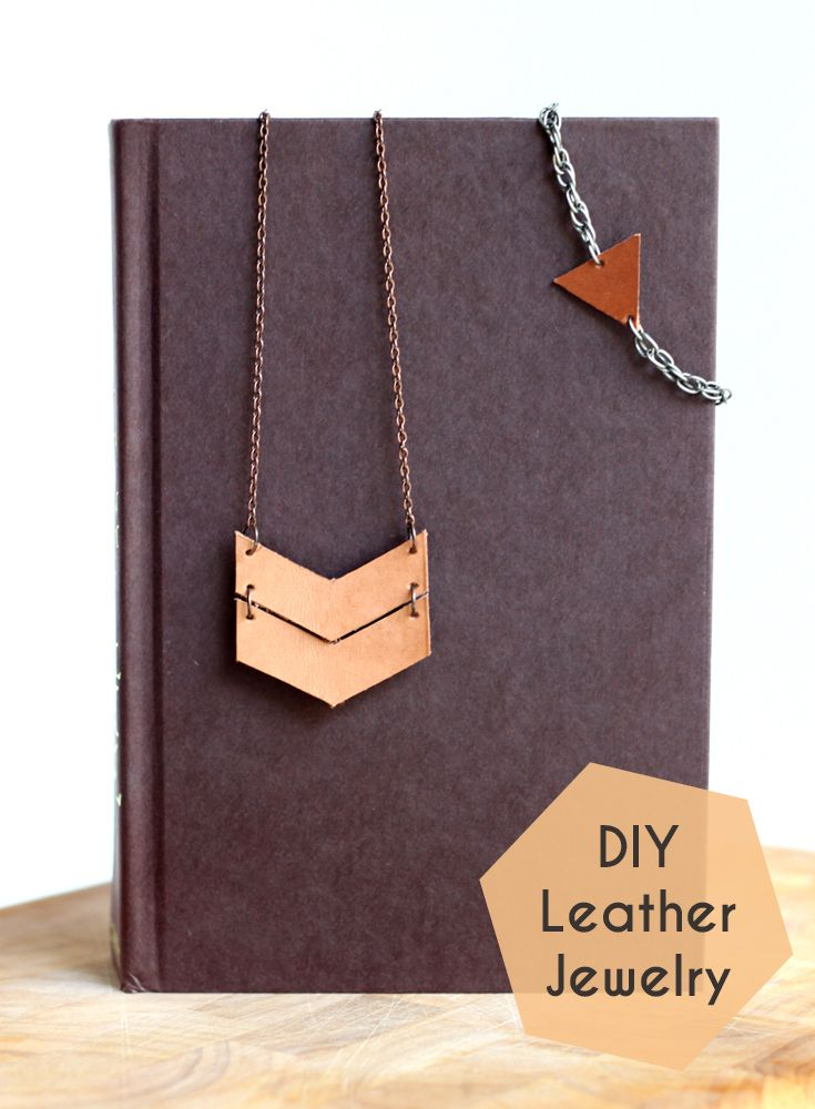 Diy leather jewelry - Super simple and equally chic, these statement pieces make the perfect gift.
