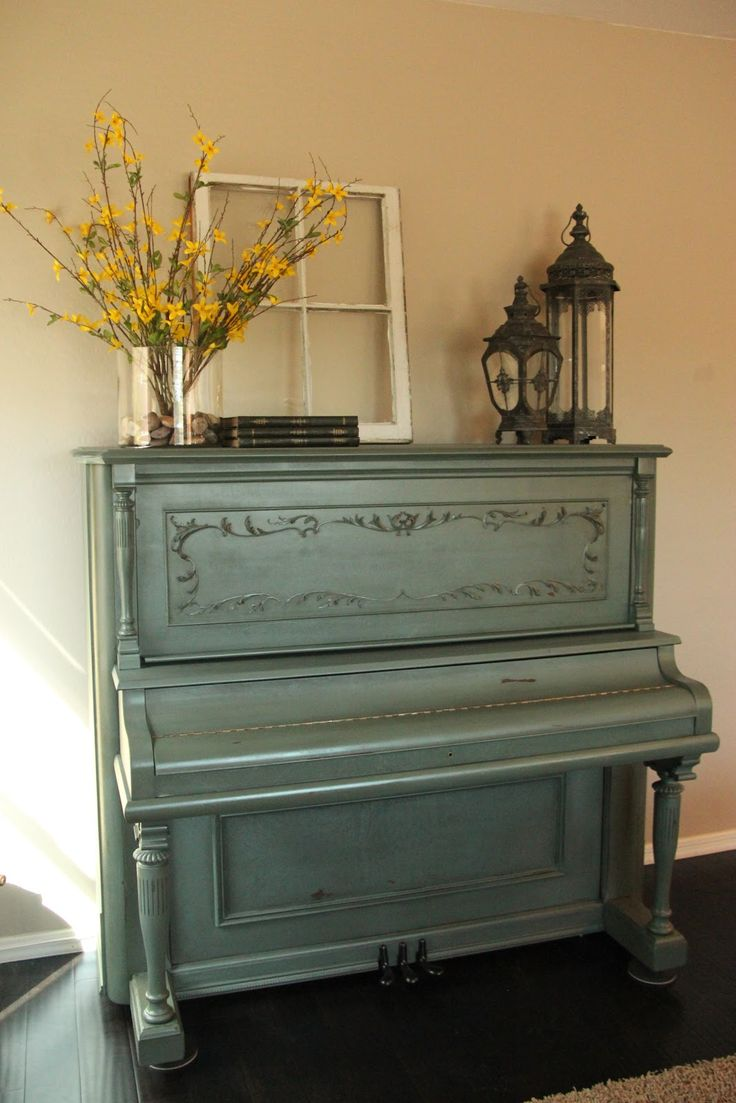 painted piano | Painted Distressed Piano