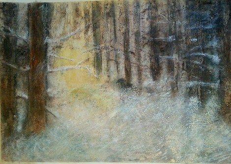 """Di Vora Anneliese, """"Winterwald"""" on ArtStack #di-vora-anneliese #art"""