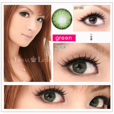 26 super pinky green15mm 55 water content - Ophtalmic 55 Colors