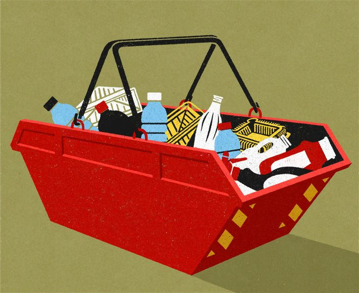 John Holcroft editorial and conceptual illustrator.  illustration  about plastic refuse
