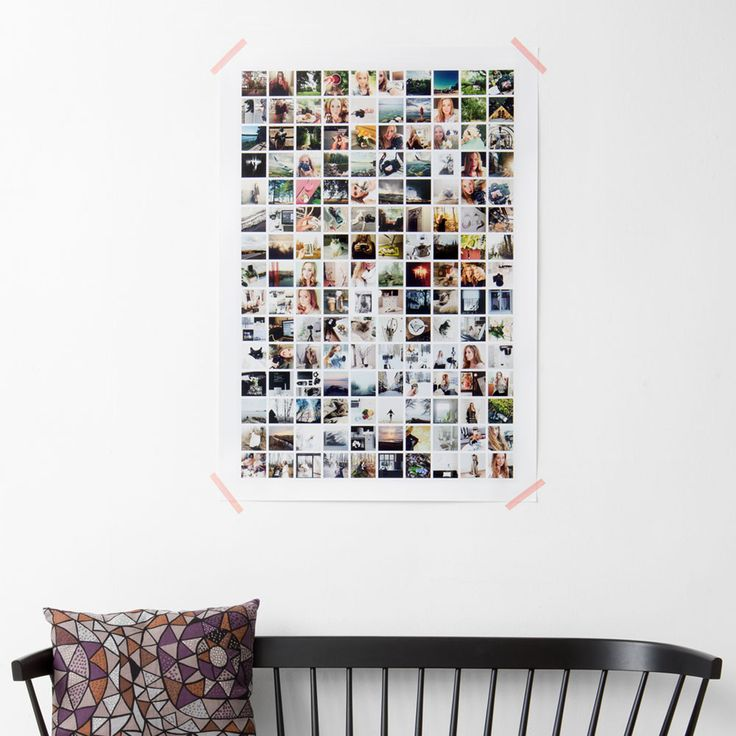 Choose 150 images for a collage on a single poster.