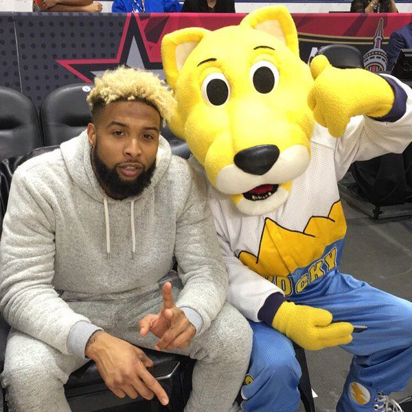 Rocky & Odell Beckham Jr. Yeah [shrugs] they're tight.. #DewCelebGame