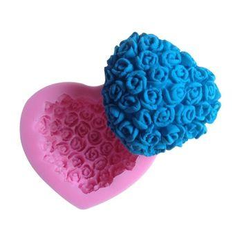 1pcs Silicone Cake Mold Bakeware Decorating Gum Paste Fondant Clay Soap Mold Rose Shaped CC078