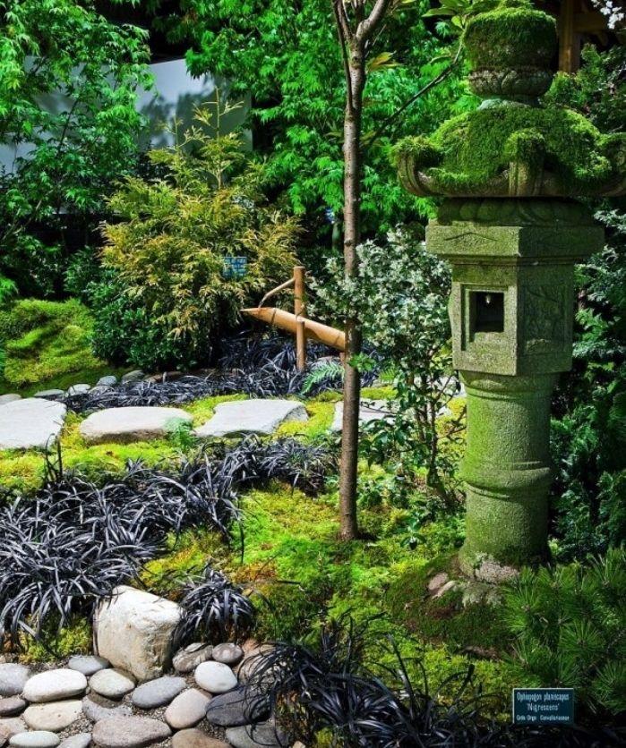 421 best images about jardinage on pinterest coins for Lanterne jardin zen