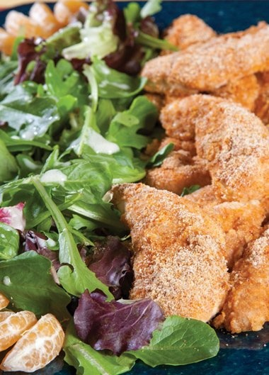... your New Years resolution. Pictured here: Oven Fried Parmesan Chicken