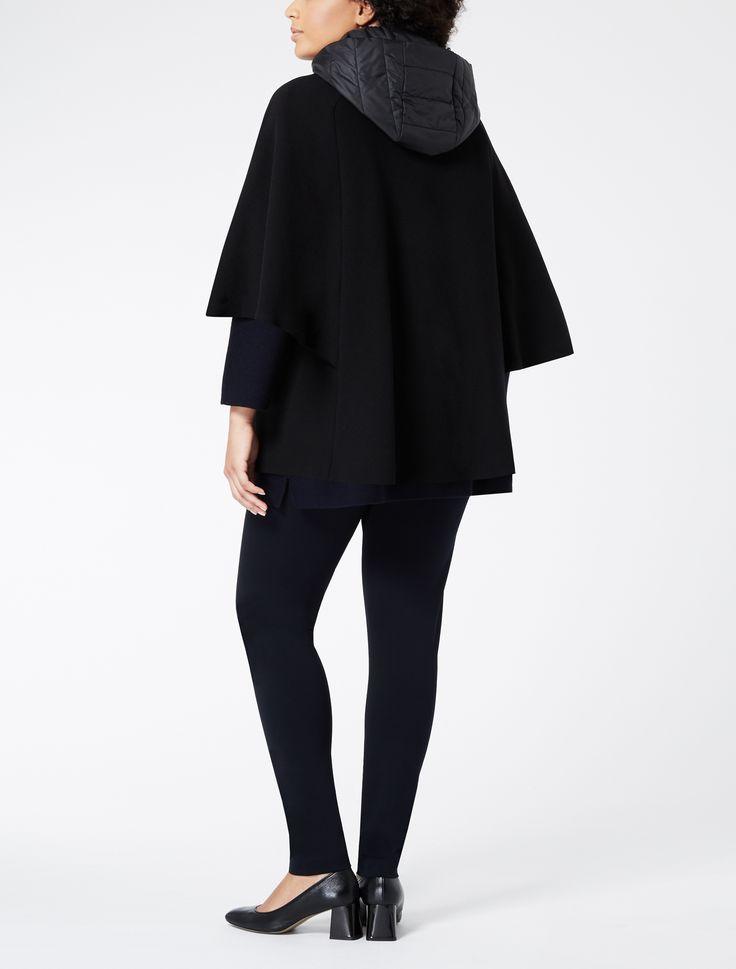 Marina Rinaldi OVIDIO nero: Cappa in doppio di lana.