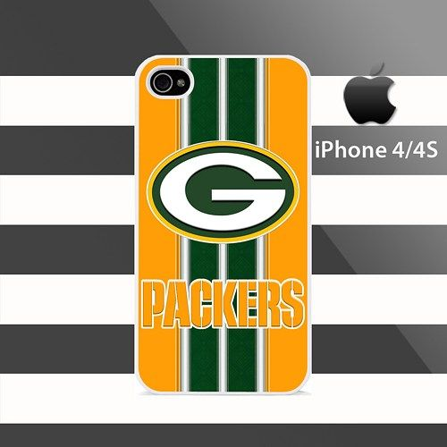 Green Bay Packer Vintage Stripes iphone 4 4s Rubber Case Cover