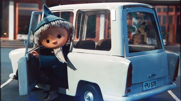 "Sandmann-Folge 235 ""Trabant""-Kombi/Palast der Republik (Festfassung), 1982"