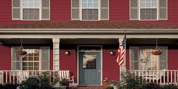Popular House Exterior Color Schemes with Crab Apple and Blue Gray also Beige