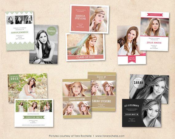 Graduation Announcement Template Bundle Photoshop by MarketingMall, $21.00