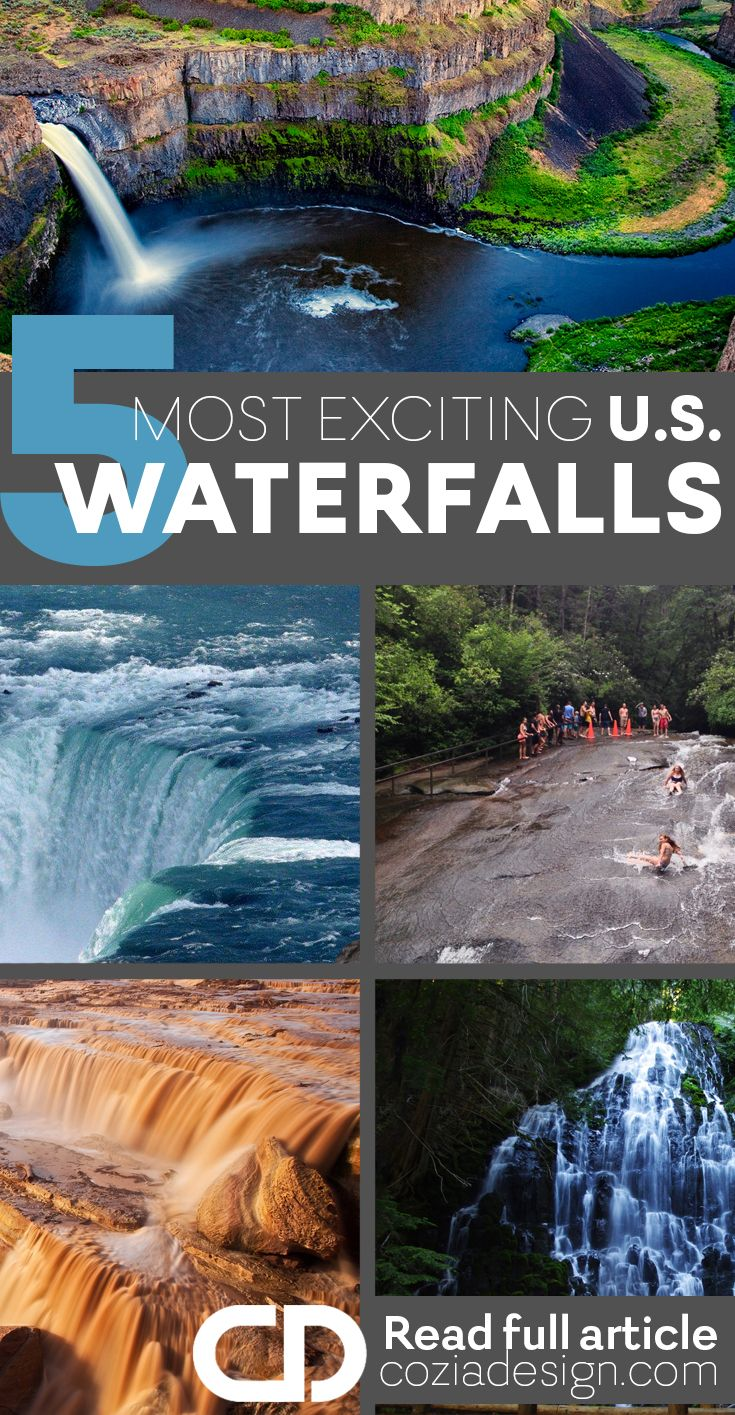 The United States are blessed with some of the most breath taking waterfalls in the world.  If you love nature and the great outdoors you must absolutely add this hiking trails to your bucket list.