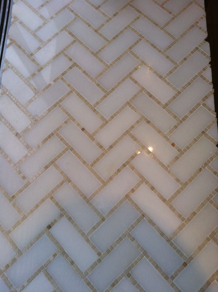 341 best images about tiles on pinterest herringbone for Small bathroom herringbone tile