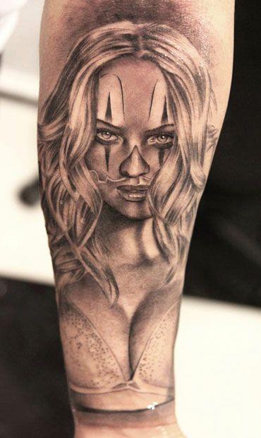 Tattoo Artist - Miguel Bohigues | www.worldtattoogallery.com/clown_tattoo