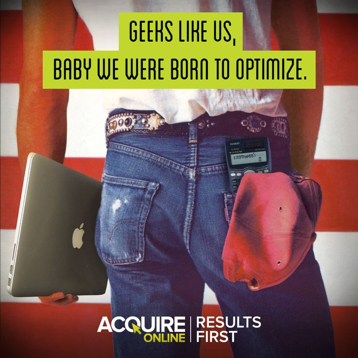 Geeks like us, baby we were born to optimize.