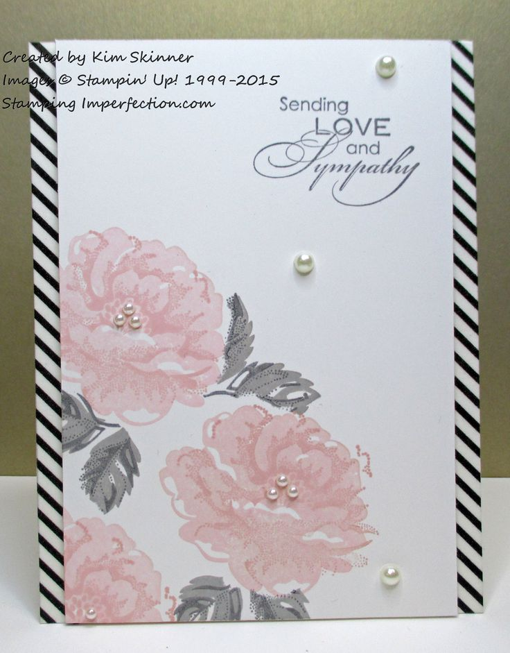 Sending Condolences with a pretty card from Stamping Imperfection