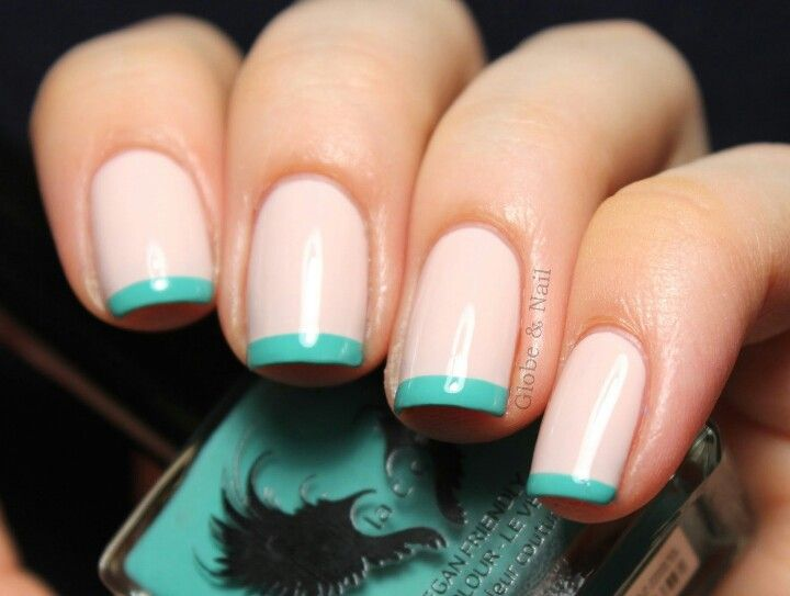 Cute color french manicure