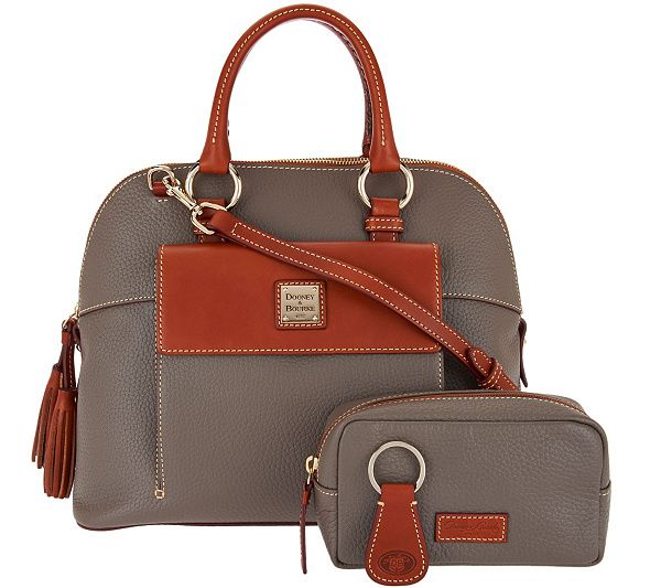 a069026da5 Embrace elegance while staying stylishly organized with Dooney   Bourke s  Aubrey satchel. Page 1 QVC.com