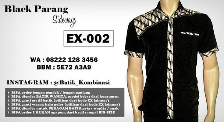 Batik Kombinasi BLACK PARANG, Seragam Batik Kombinasi HITAM PUTIH, http://instagram.com/batik_kombinasi, http://www.tokopedia.com/rajapadmibatik, http://www.fb.com/batikpriamodern, WA : 08222 128 3456, BBM : 5E72 A3A9   #batikkombinasi #kemejabatik #seragambatik #batikkantor