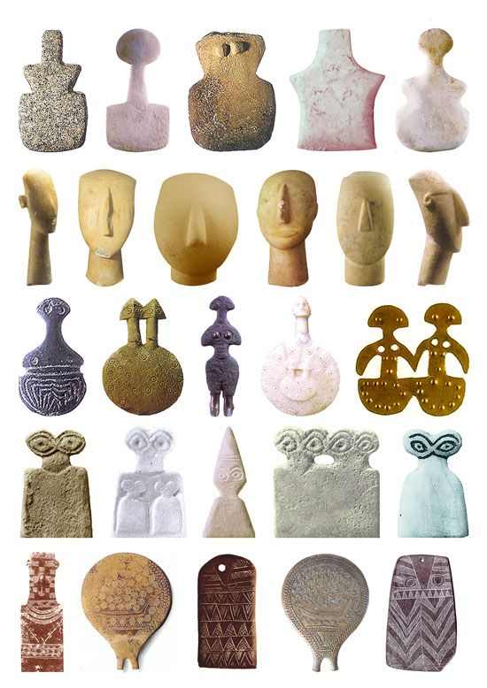 26 Goddess sculptures Cycladic