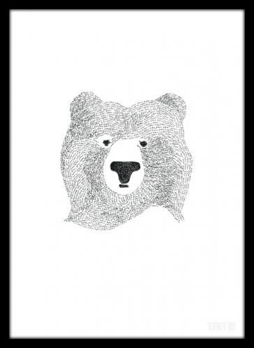【楽天市場】SEVENTY TREE | BEAR OF FEW WORDS | A4 アートプリント/ポスター:北欧雑貨と音楽 HAFEN ハーフェン