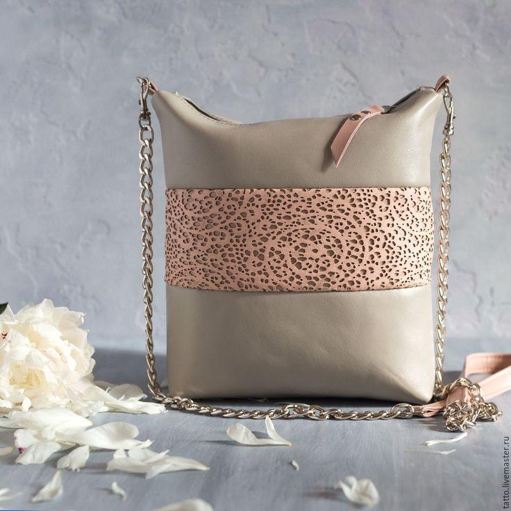 Купить Сумка кожаная - Симфония . - серый, сумка, женская сумка, оригинальная сумка, дизайнерская сумка