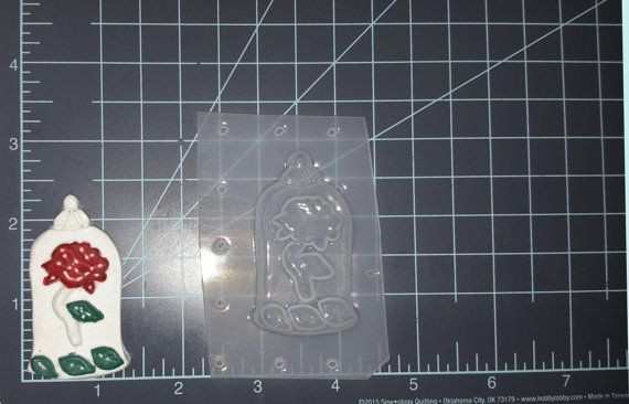 Enchanted Rose Plastic Mold silicone mold Resin Mold clay