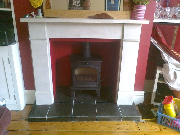 Slate Tiles for Fireplace Hearth | Fireplace | Pinterest | Slate ...
