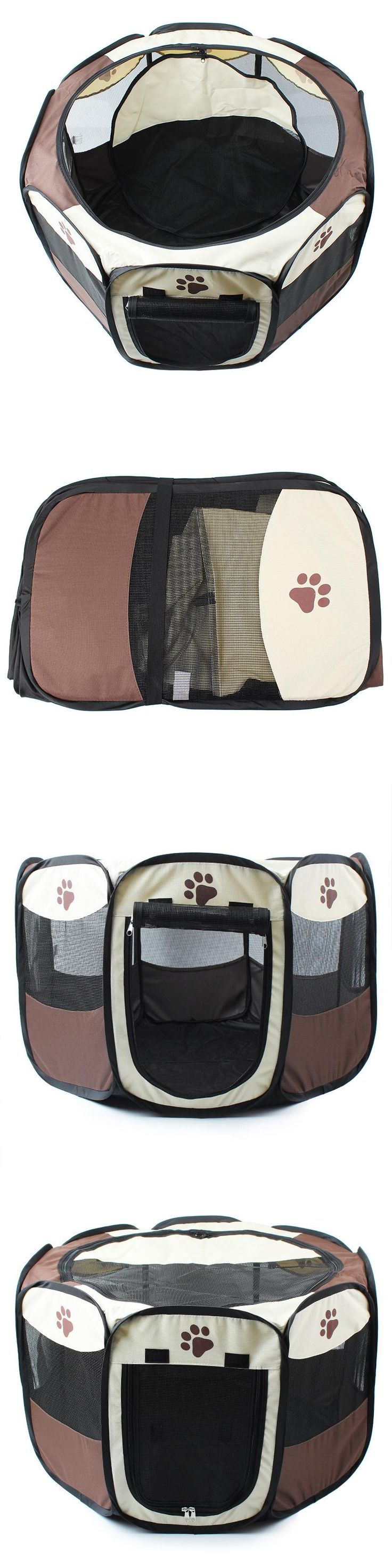 Pet Bed Pet Play Pen Puppy Rabbit Cage, Large,octagonal collapsible for Big Pet