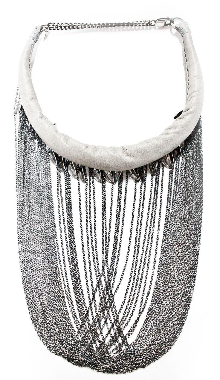 """ETEREA ACCHIAPPASOGNI"" leather and silver 925 necklace - brand DANIELE BASTA"