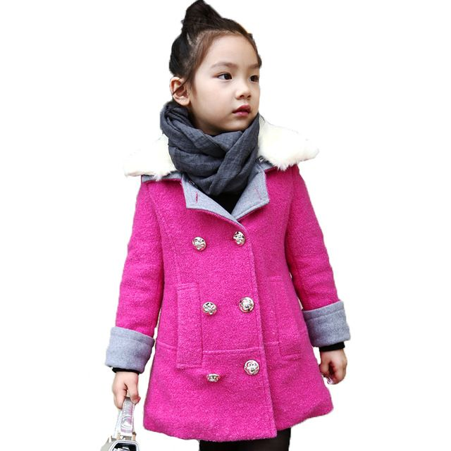 Girls Winter Coat Fur Collar Double-breasted Solid Color Winter Jacket Girls Child Thickened fashion Kids Coats Girls Winter 376 US $57.38-64.07 /piece Specifics Outerwear Type	Wool & Blends Clothing Length	Long Sleeve Style	Regular Pattern Type	Solid Brand Name	ww Closure Type	Double Breasted Gender	Girls Style	Fashion Material	Acrylic,Polyester,Wool Fabric Type	Broadcloth Collar	Turn-down Collar Sleeve Length	Full Model Number	376SZ  Click to Buy :http://goo.gl/t9O329