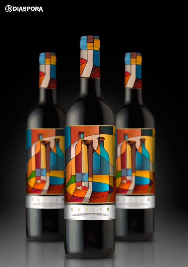 Love this cubism #wine project #packaging PD