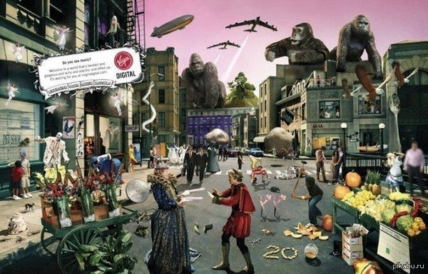 72 названия рок-групп на одном постере. Самый известный рекламный постер Virgin — это постер-головоломка, получившая золото в Каннах в 2005 году. На плакате зашифровано 72 названия рок-групп.