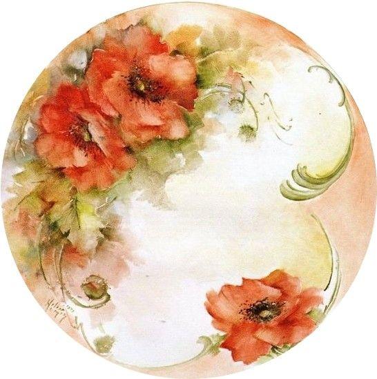 круглые картинки с цветами декупаж ручьи
