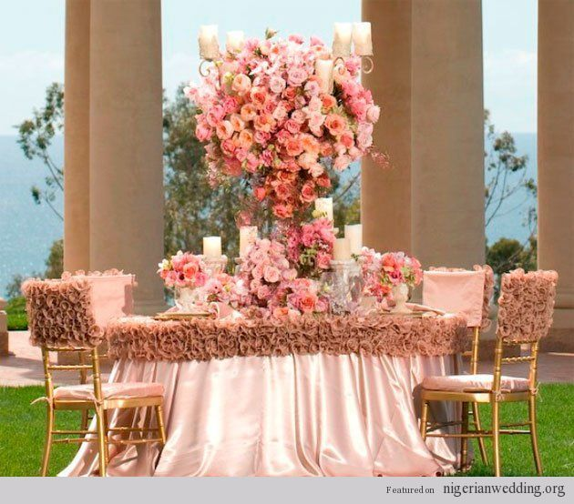 18 fabulous wedding reception color scheme chair table for Decorating chairs for wedding reception