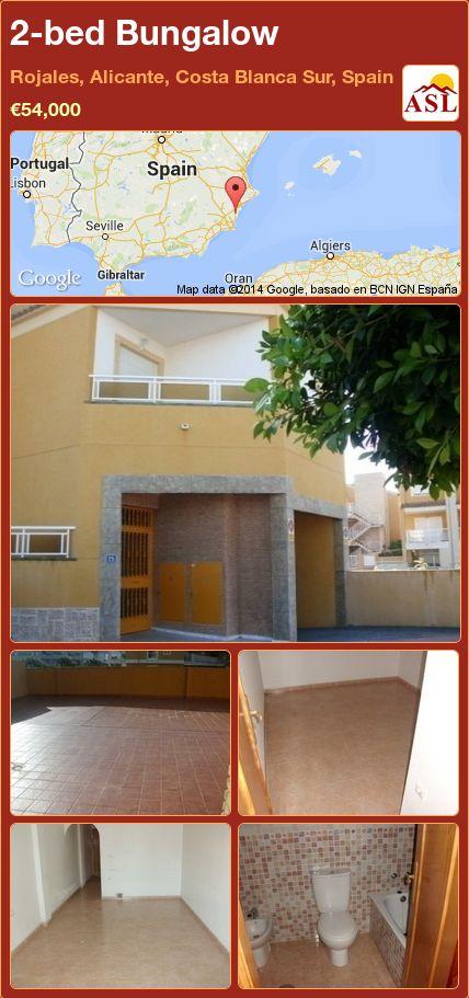 2-bed Bungalow in Rojales, Alicante, Costa Blanca Sur, Spain ►€54,000 #PropertyForSaleInSpain