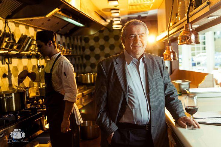 Portrait Photoshoot of the Greek Chef Nikos Sarantos in Athens for Gastronomos Magazine